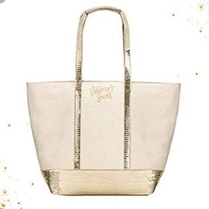 New! Victoria's Secret Sequins Tote Bag